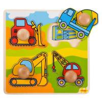 Vkladacie puzzle Stavebné stroje