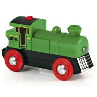 Vláčik na baterky - zelená lokomotíva